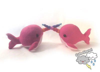 Gnarly narwhal plushies by The-Cute-Storm