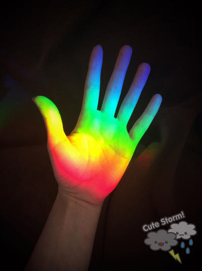 I make magic, catching rainbows in my hands by The-Cute-Storm