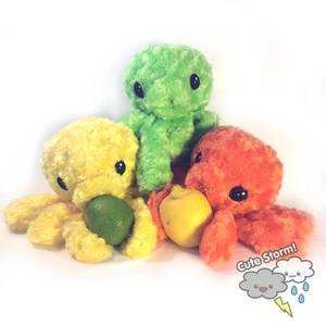 Citrus Octopus Plushies