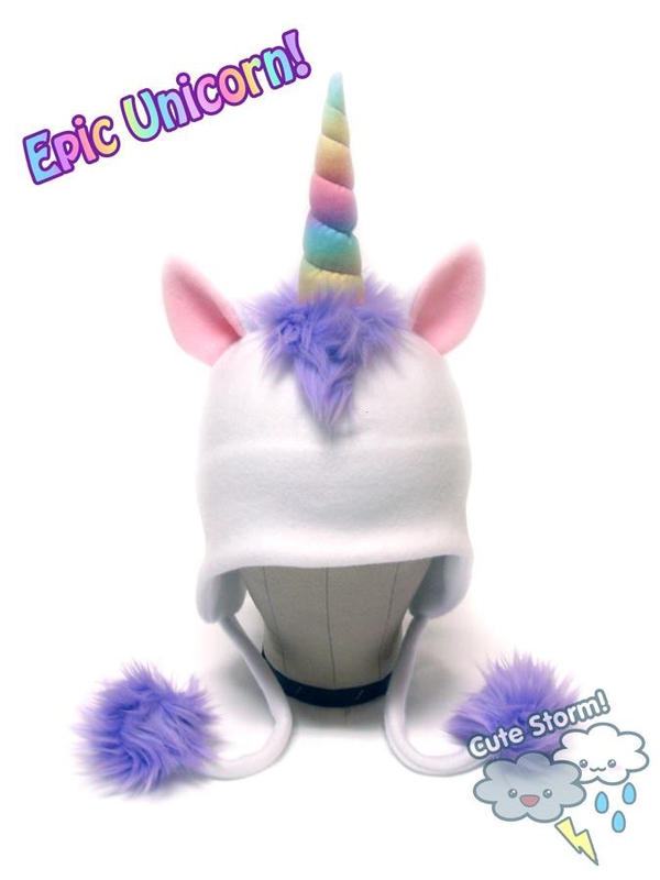 EPIC Rainbow Unicorn Hat by The-Cute-Storm