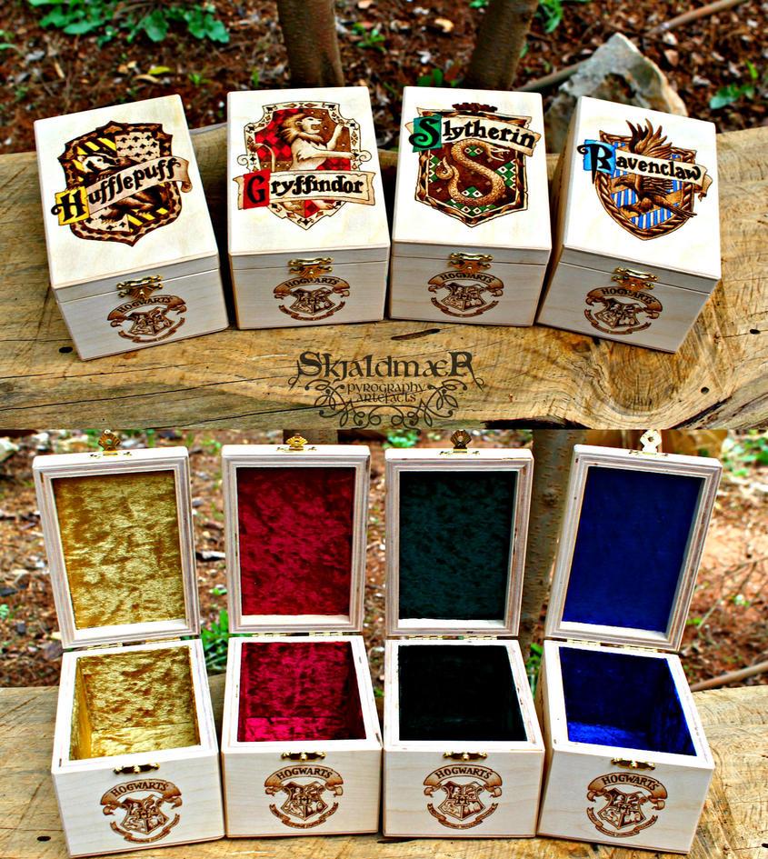 Hogwarts Houses Harry Potter Pyrography Wood Boxes By SkjaldmaerPyrography  ...