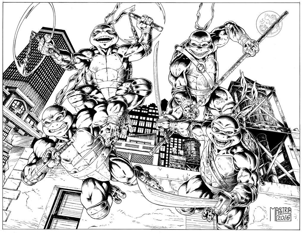 Ninjaturtles Inked by AntonioMastria