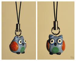 Owl charm by Kridah