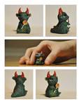 Mini Monster with Lollipop