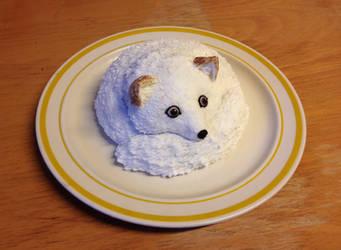White fox cake