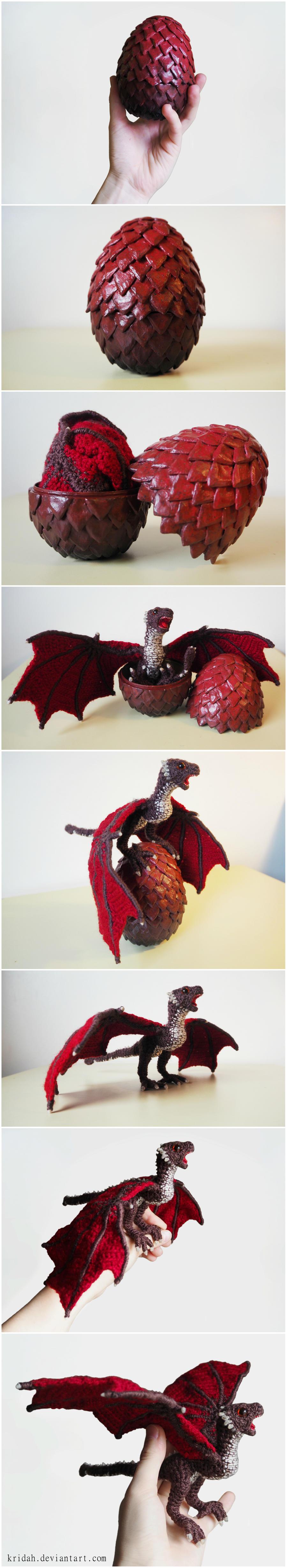 Baby Dragon and Egg by Kridah