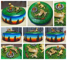 Roe deer hunting cake