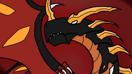 Vexos Darkus, Pyrus Dragonoid by IFIGMER