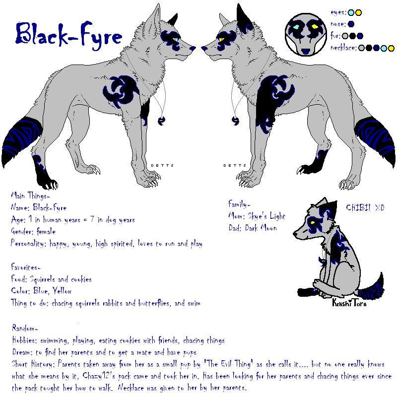 Black-Fyre Ref by KenshiTora