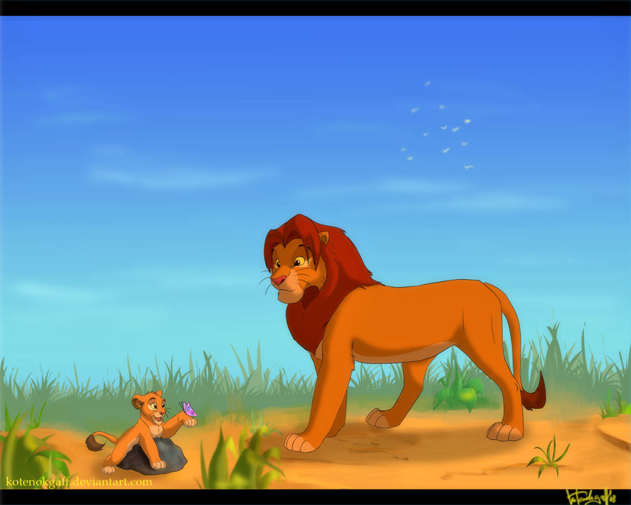 Simba and little Kopa ...
