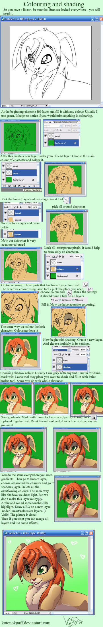 Colouring and shading tutorial by kotenokgaff