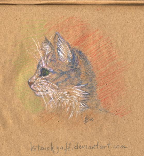 Blue kitten by kotenokgaff
