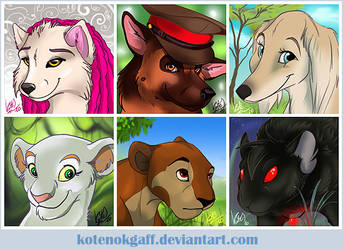 Icon commissions 2010 by kotenokgaff