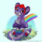 A very rainbow snow leopard by kotenokgaff