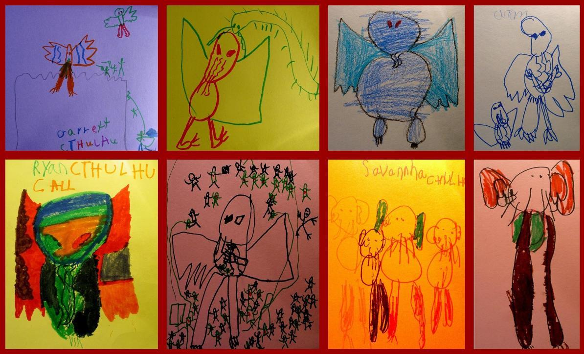 Cthulhu Kids Art
