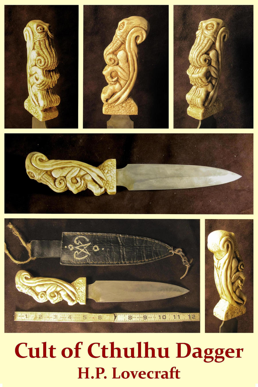 Cult of Cthulhu Dagger  - H.P. Lovecraft by zombiequadrille