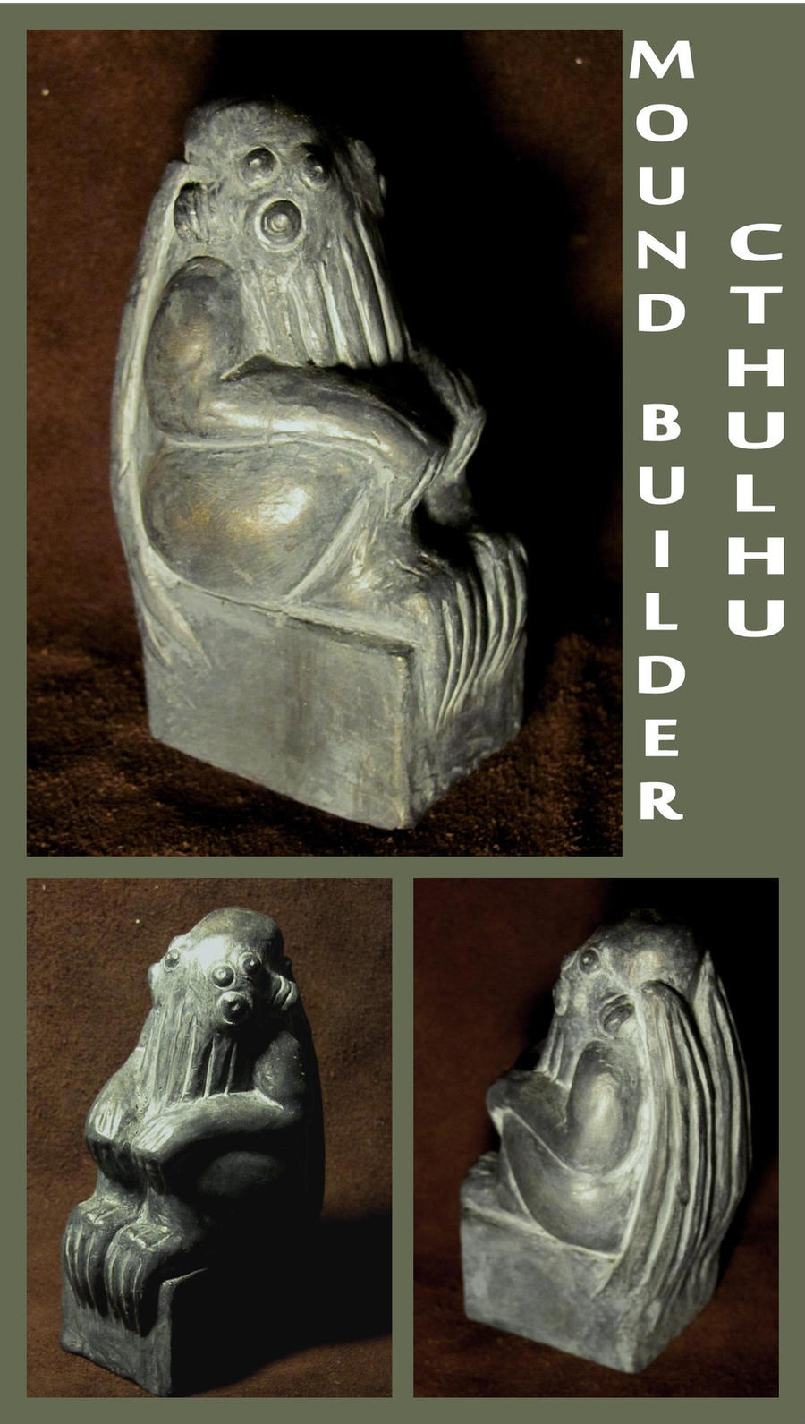 H.P. Lovecraft - Mound Builder Cthulhu by zombiequadrille