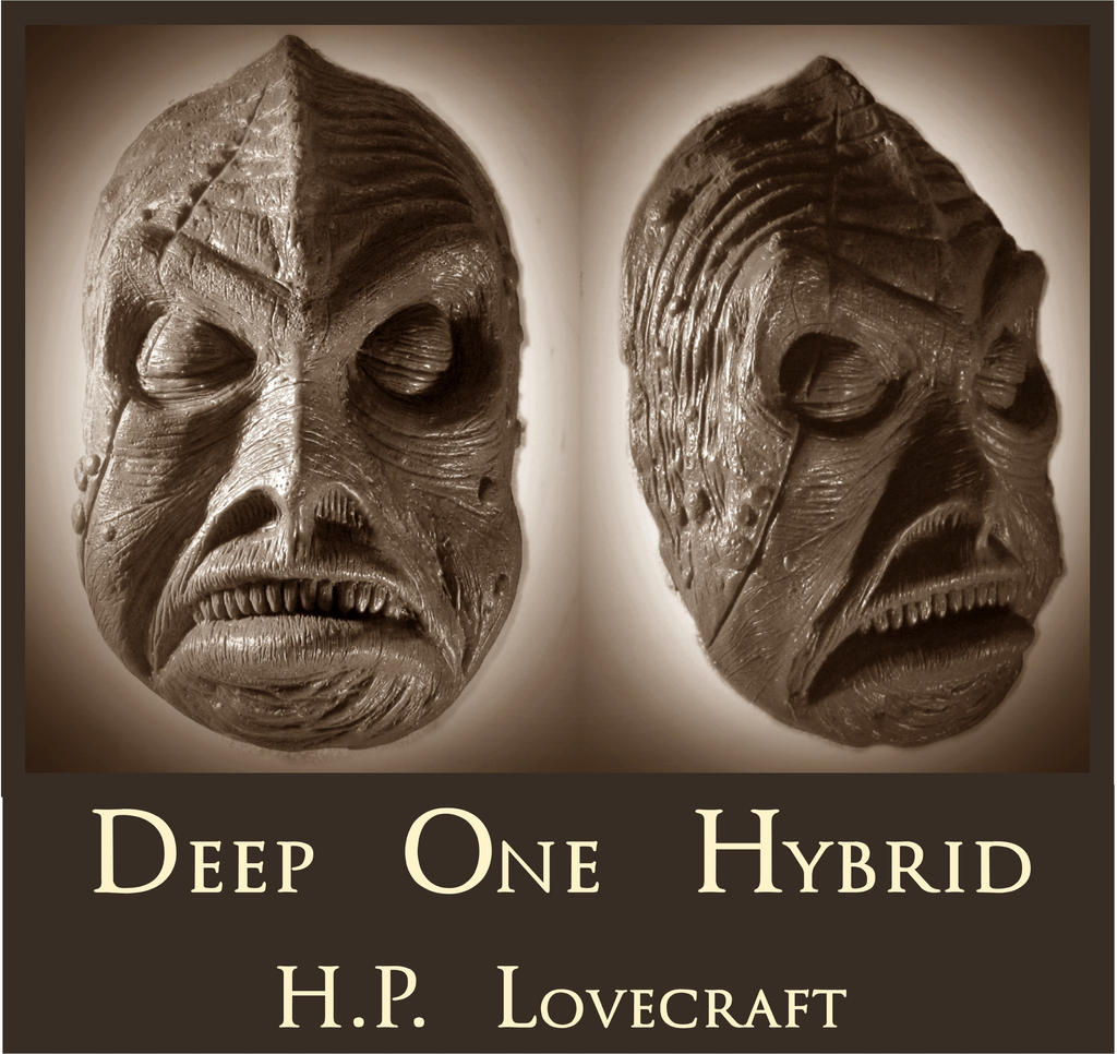 H.P. Lovecraft - Deep One Hybrid Death Mask