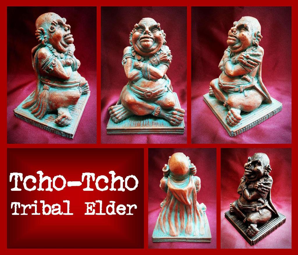 Tcho-Tcho Tribal Elder - Cthulhu Mythos by zombiequadrille