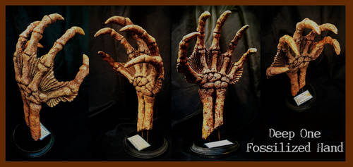 Deep One Fossilized Hand - H.P. Lovecraft by zombiequadrille