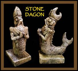 Stone Dagon Idol - Cthulhu Mythos by zombiequadrille