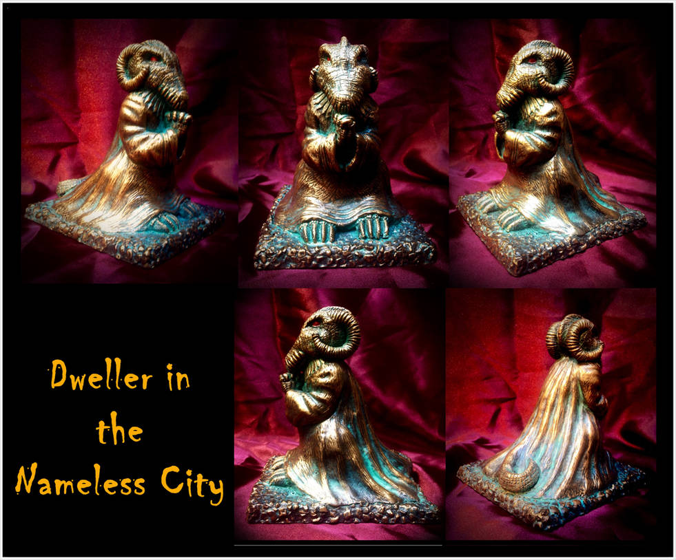 Dweller in the Nameless City - Lovecraft by zombiequadrille