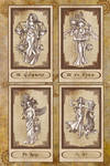 Tarot cards XX to XXIII