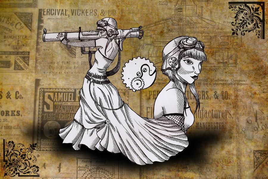 Steampunk Bazooka Girl by Karla-Chan