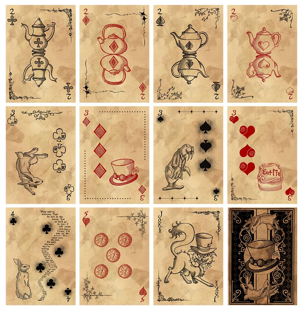 Alice in Wonderland Card Deck - Part 1 by karla-chan