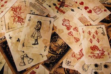 Alice in Wonderland Card Deck by Karla-Chan