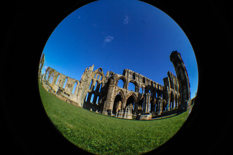 Fisheyed Whitby Abbey by karla-chan