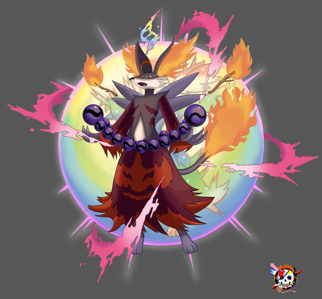 Mega Delphox X Artwork by Color-Arcano on DeviantArt