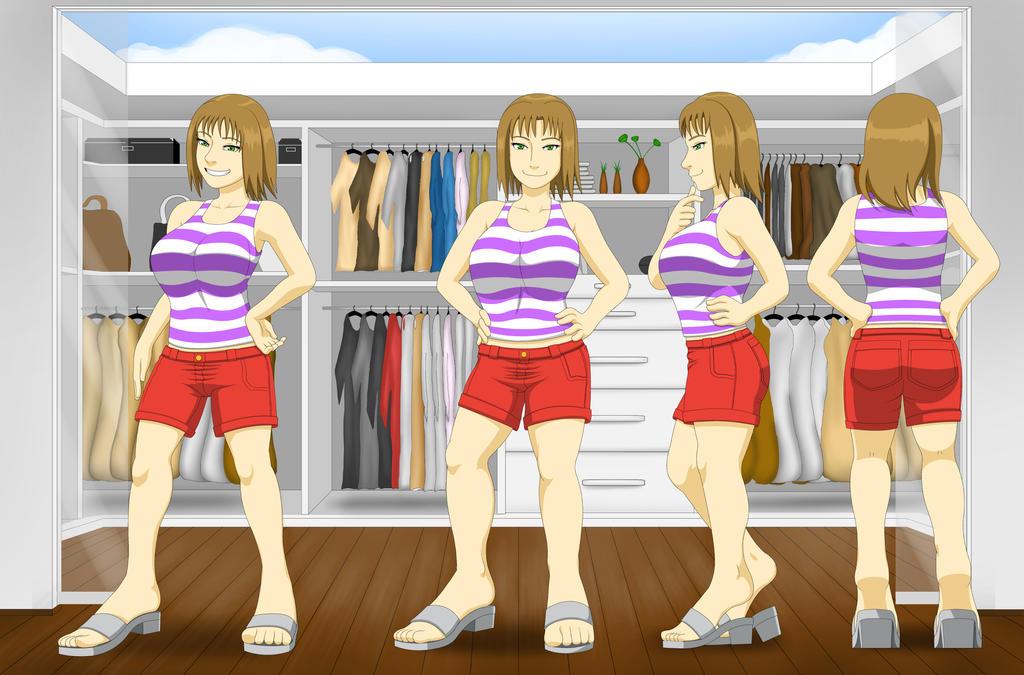 Vestimentas, Joven Aura - Ropa de verano by Color-Arcano
