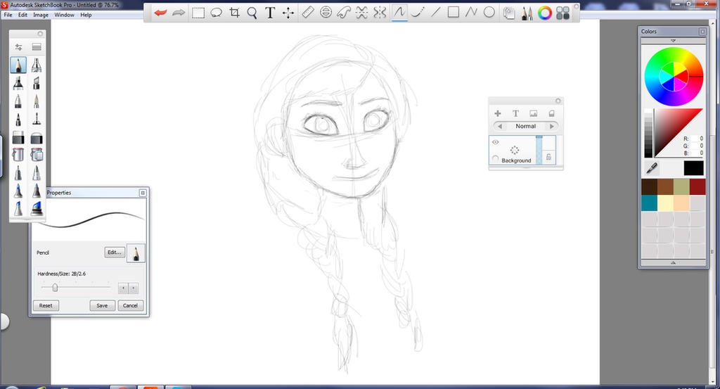 C Drawing Smooth Lines : Anna step by in autodesk sketchbook pro teamhans