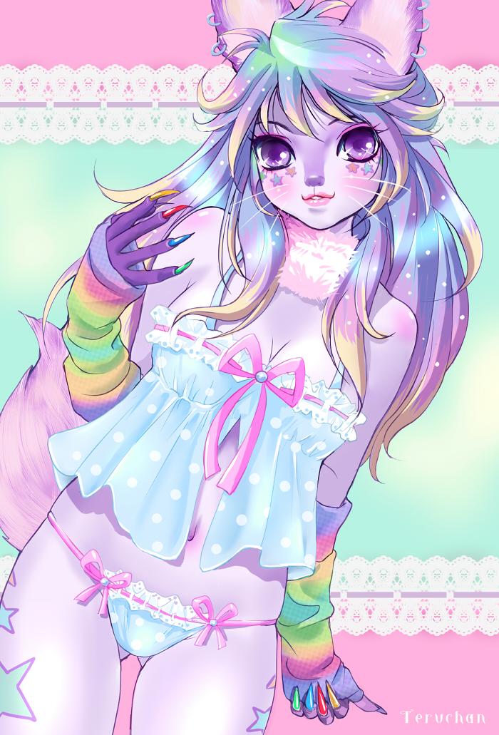 rainbow fox by Teruchan