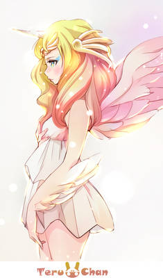 Angel in the rising sun