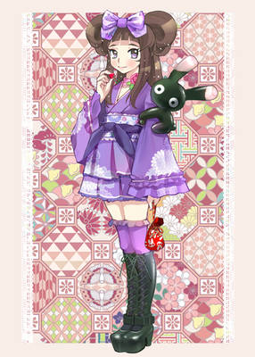 Japanese style lolita girl