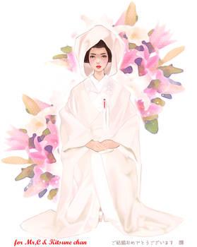 weddingdress of Japan