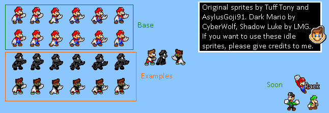 Mario's Shadow Idle Sprites