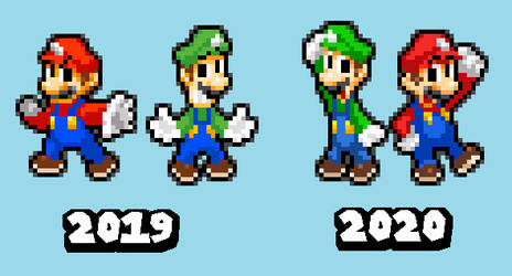 Chaos Arc - Mario Bros Color Palette Comparison
