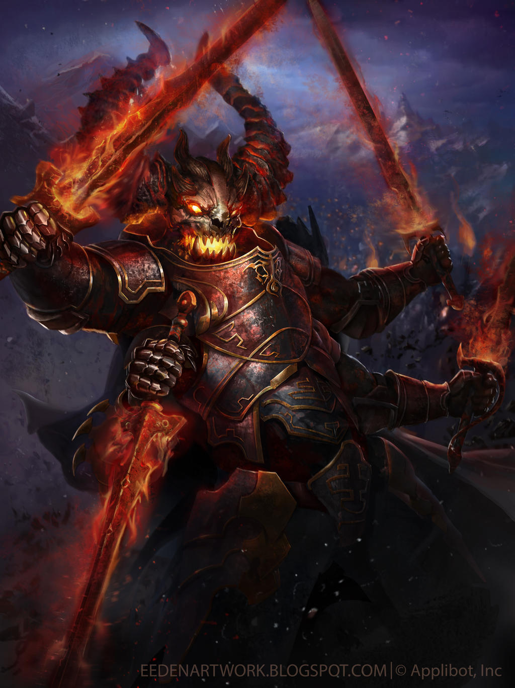 Demon Level 1 3000x4000 jpg final by Eedenartwork