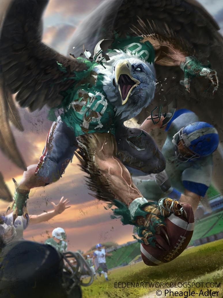 Eagle Footballer by Eedenartwork