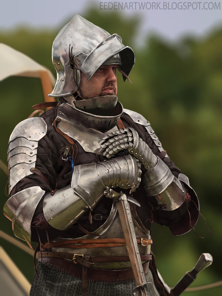 Knight study by Eedenartwork