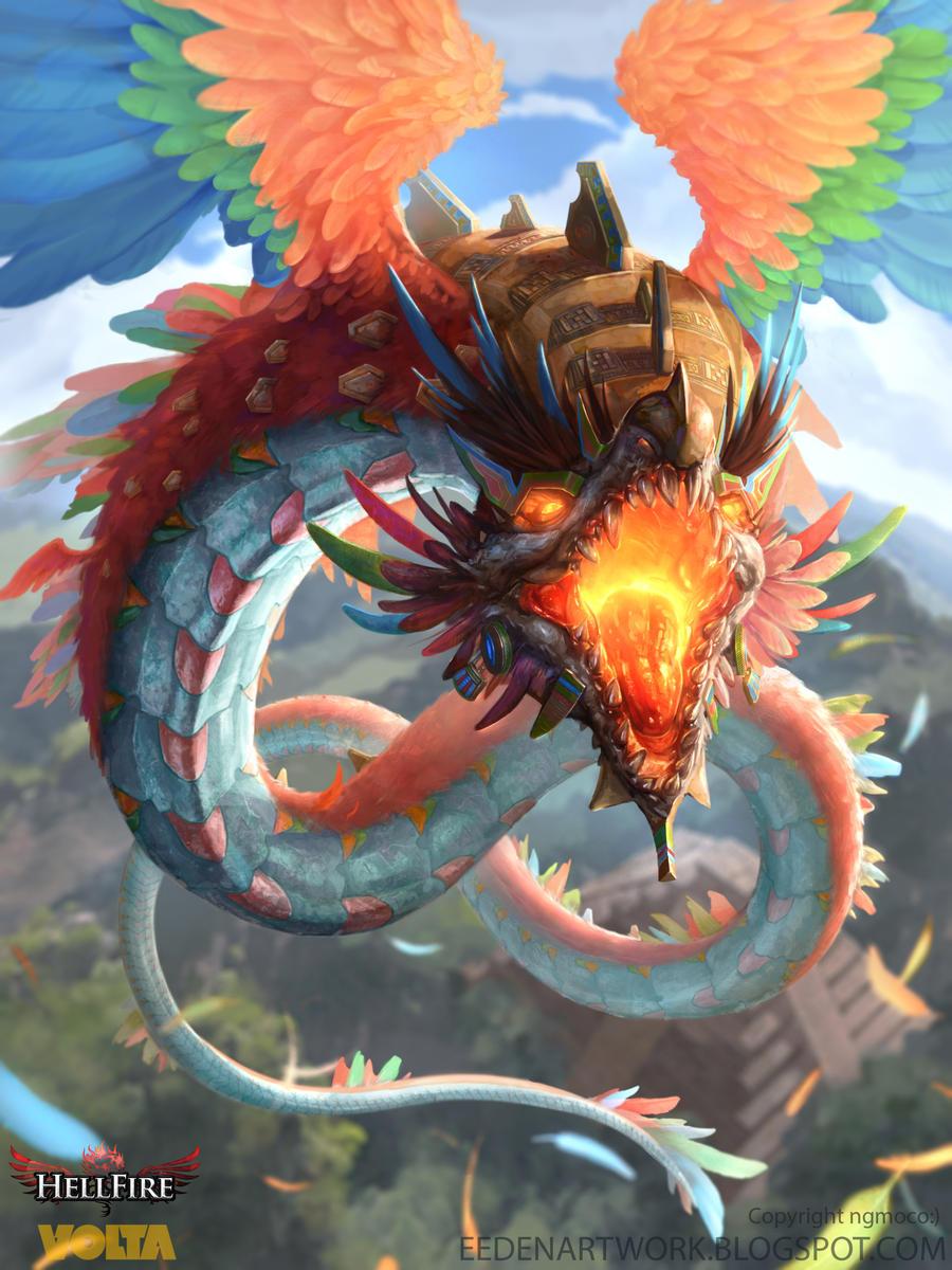 Quetzalcoatl by Eedenartwork on DeviantArt  Quetzalcoatl by...