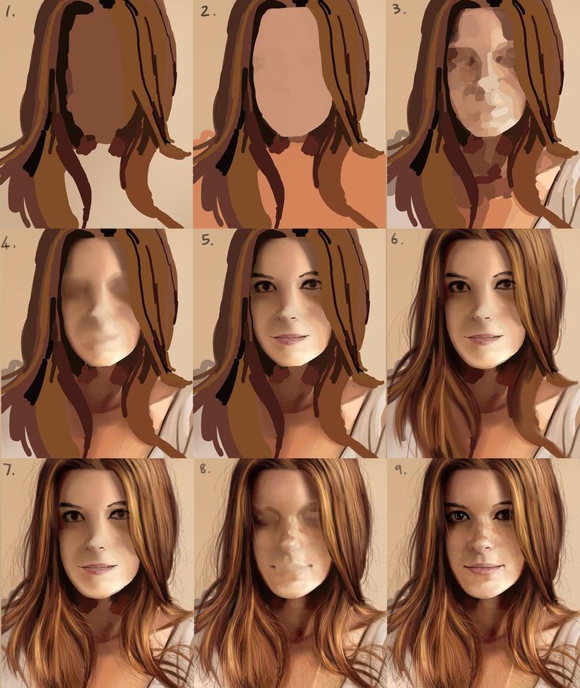 Girl-1-process by Eedenartwork