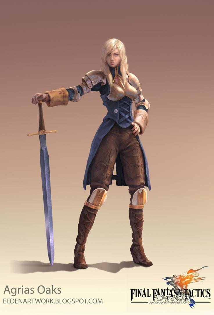 Final Fantasy Tactics Fan Art (Agrias Oaks) by Eedenartwork