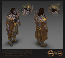 Ghostfire Armour Set TopDownView by Eedenartwork
