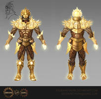 Radiant Armour Set Flat View by Eedenartwork