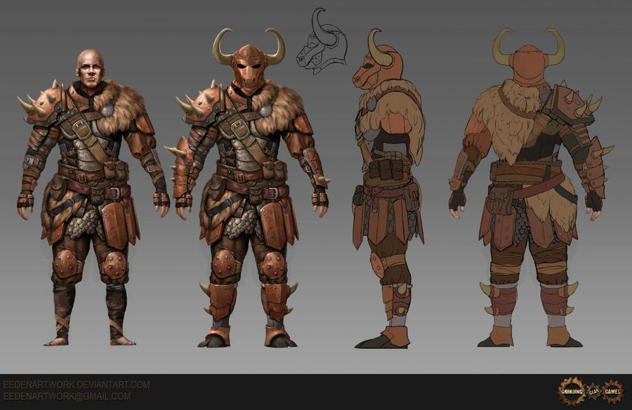 Minotaur Armour Set by Eedenartwork