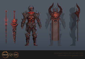 Ultimate Chaos Armour and Cloak by Eedenartwork